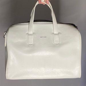 Mat & Nat White Bowler Bag